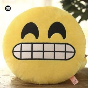 Urban Outfitters Nervous Emoji Pillow